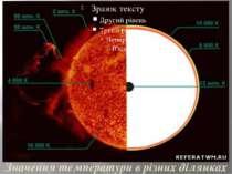 Значення температури в різних ділянках