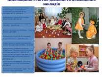 Інноваційна освітня діяльність дошкільних закладів