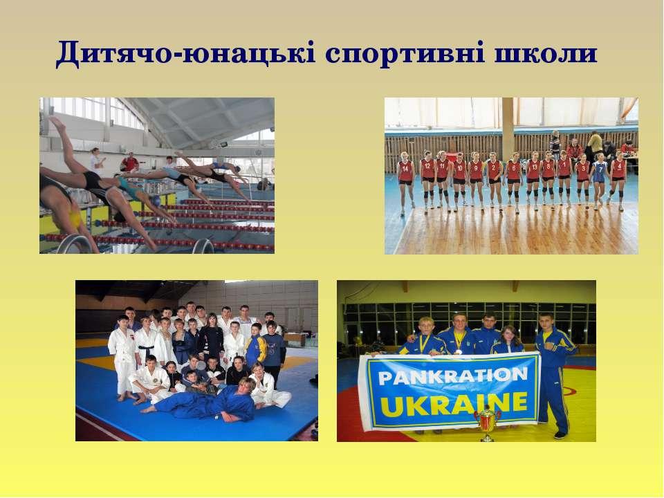 Дитячо-юнацькі спортивні школи
