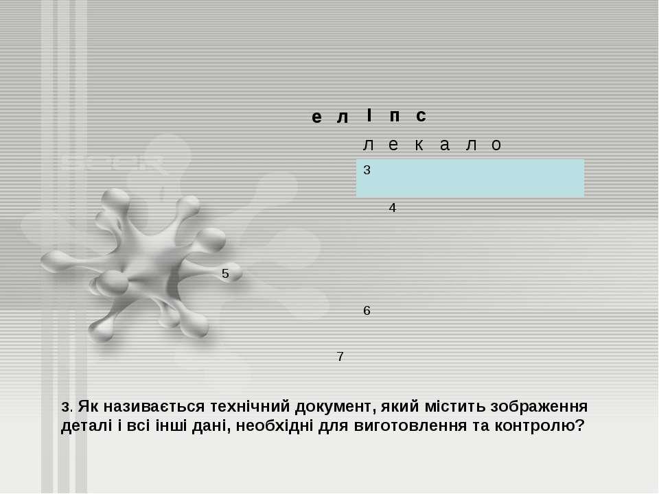 3. Як називається технічний документ, який містить зображення деталі і всі ін...