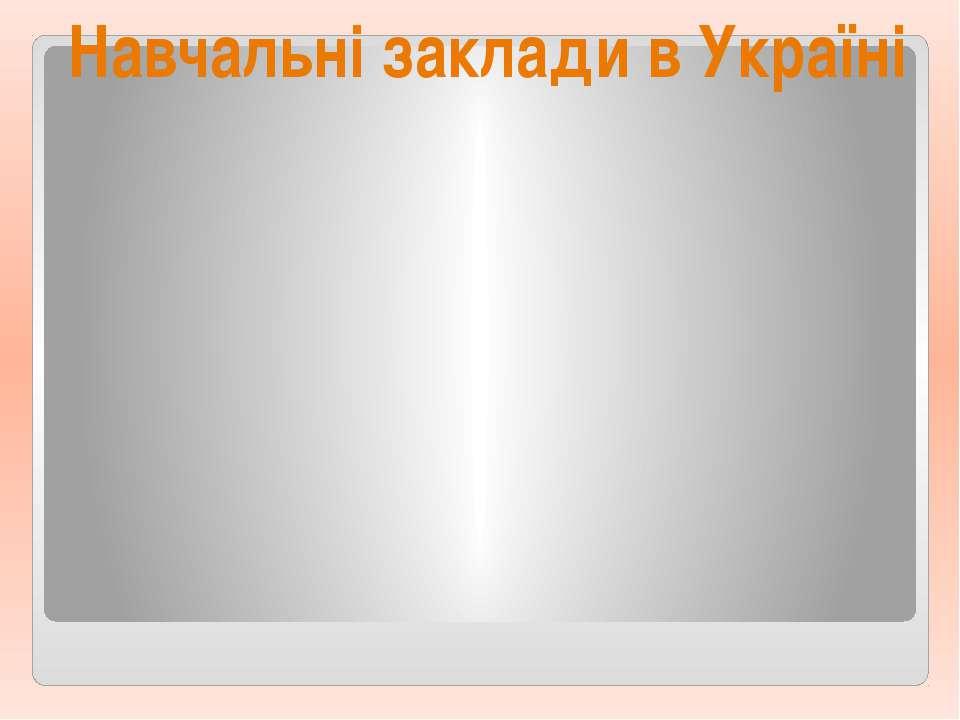 Навчальні заклади в Україні