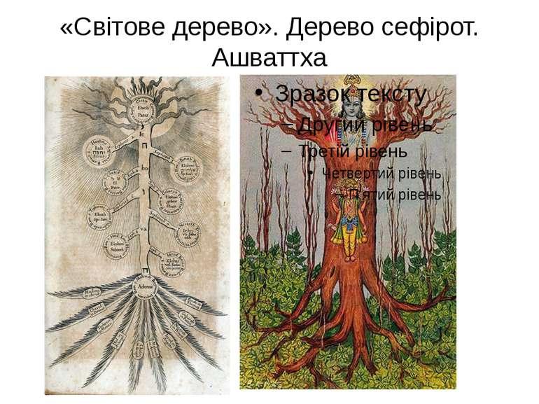 «Світове дерево». Дерево сефірот. Ашваттха