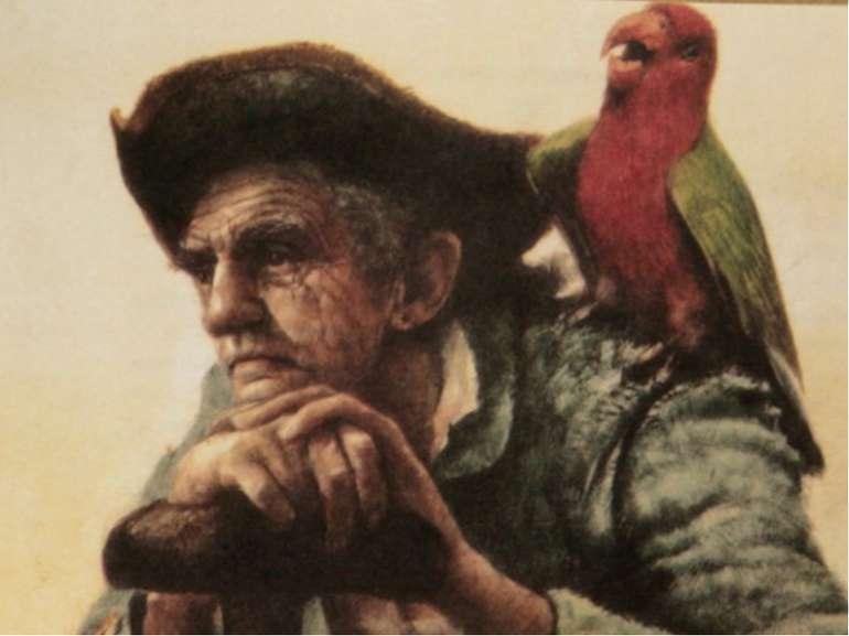 12. Що викрикував папуга на ім'я капітан Флінт: 1. «Центи!»; 2. «Фунти!»; 3. ...