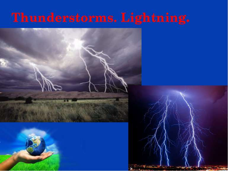Thunderstorms. Lightning. Page