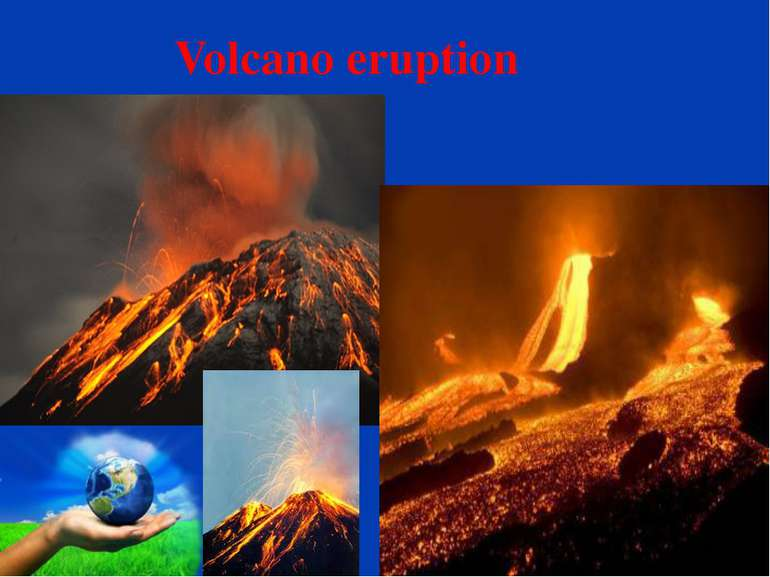 Volcano eruption . Page