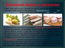 Значення жирів у організмі. Жири - важливий продукт харчування людини. Жири с...