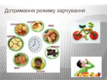 Дотримання режиму харчування
