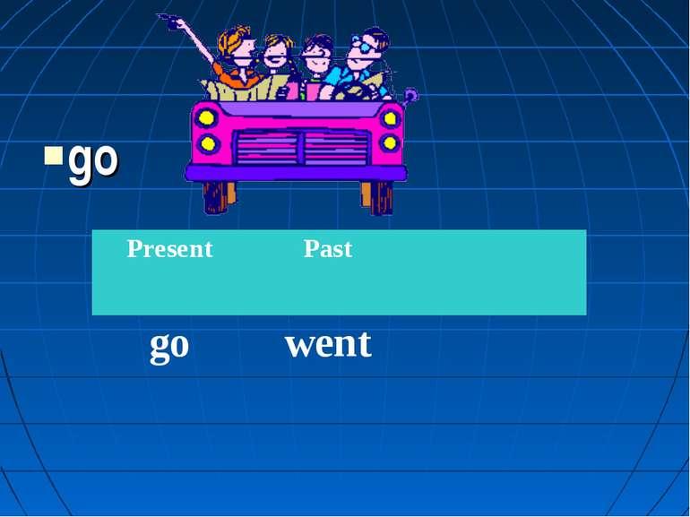go Present Past go went