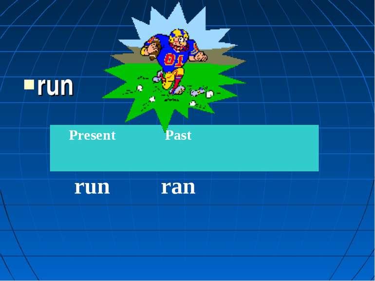 run Present Past run ran