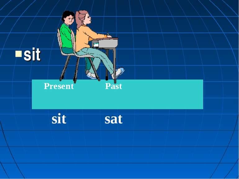 sit Present Past sit sat