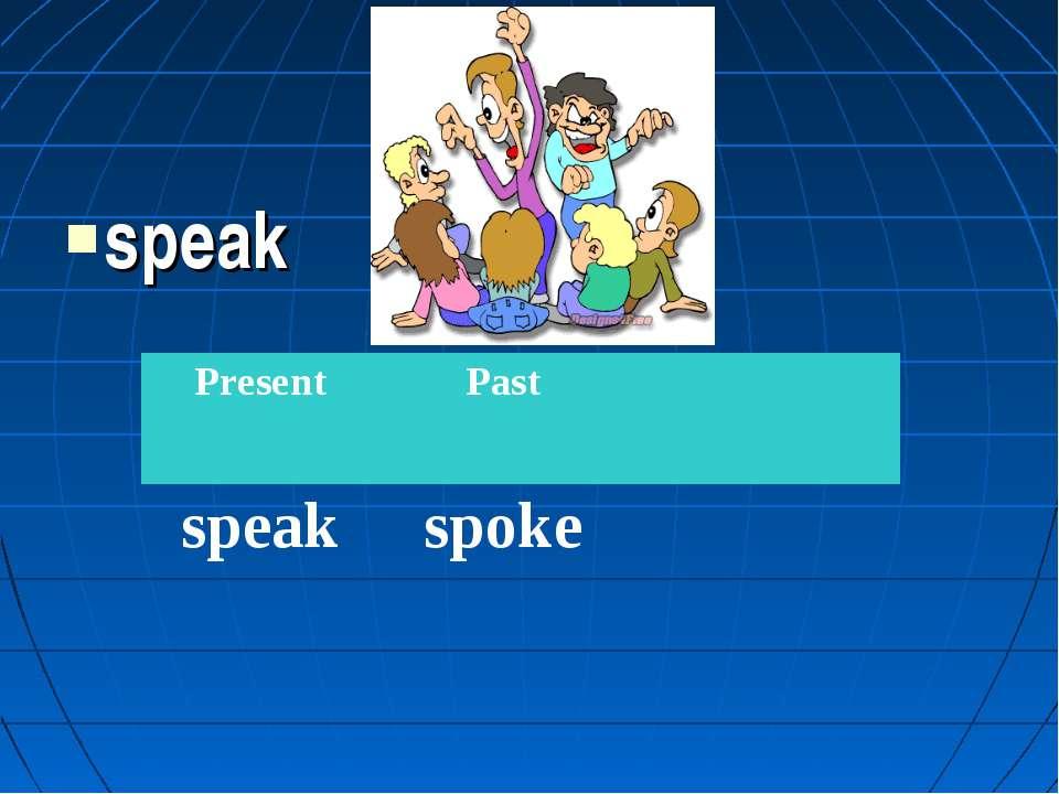 speak Present Past speak spoke