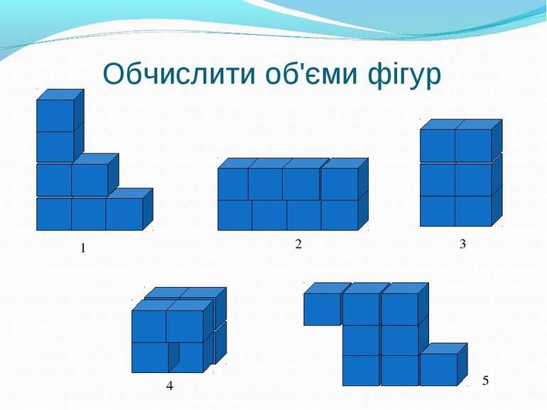 Обчислити об'єми фігур 1 2 3 4 5