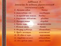 Завдання 5. Запишіть до поданих фразеологізмів синонімічні слова 1.Пускати п...