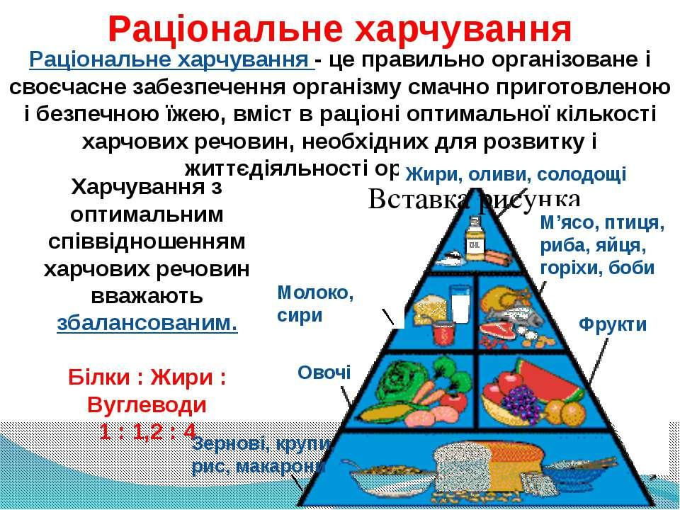 Раціональне харчування Раціональне харчування - це правильно організоване і с...