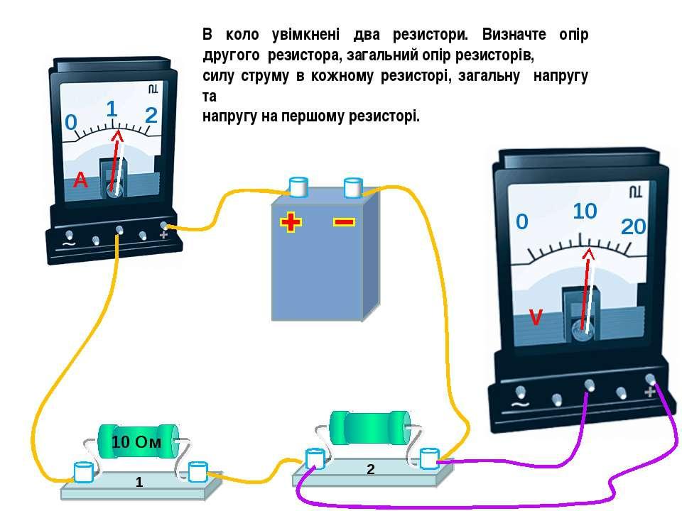В коло увімкнені два резистори. Визначте опір другого резистора, загальний оп...