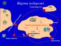 Карта подорожі Країна дробових чисел Станція Прибуття Море помилок Пролив роз...