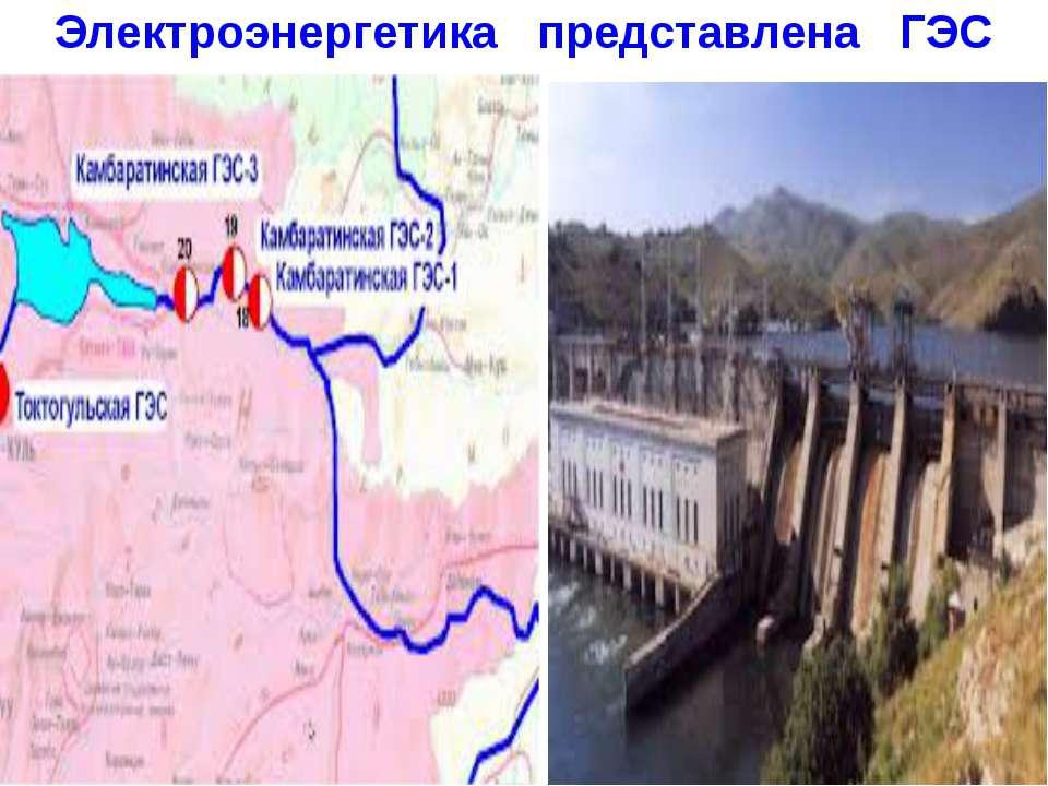 Электроэнергетика представлена ГЭС