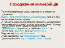 Імена кіммерійських царів, зафіксовані в історичних джерелах- Теушпа, Тугдамм...