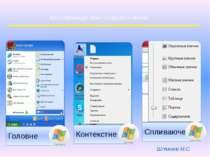 Класифікація комп'ютерного меню Штикало М.С.