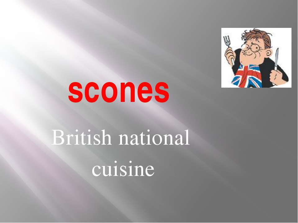 scones British national cuisine