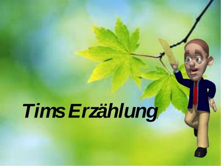 Tims Erzählung