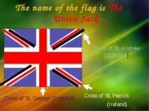 Cross of St. Andrew (Scotland) The name of the flag is The Union Jack Cross o...