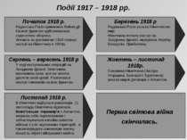 Перша світова війна скінчилась. Події 1917 – 1918 рр.