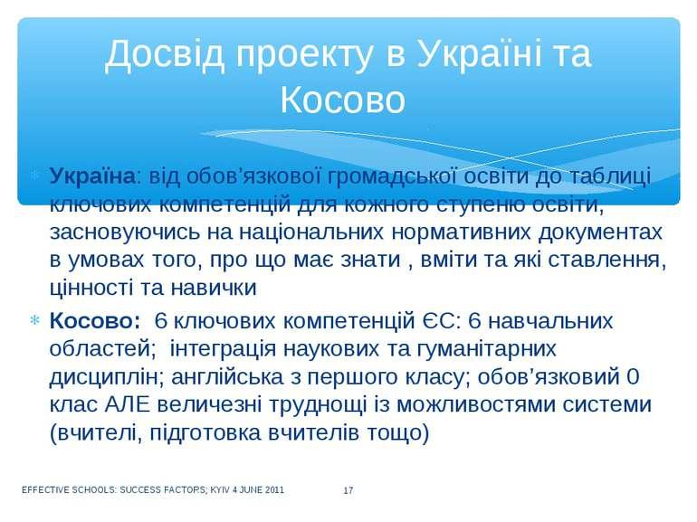 Україна: від обов'язкової громадської освіти до таблиці ключових компетенцій ...