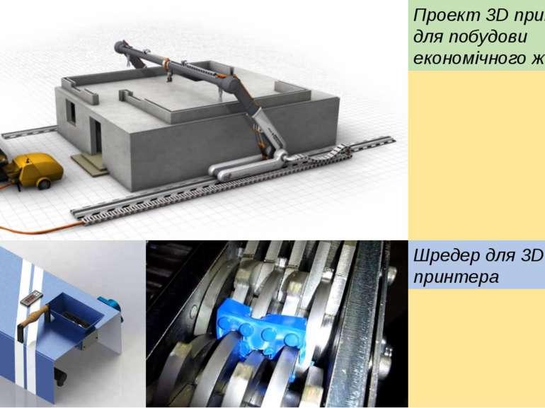 Проект 3D принтера, для побудови економічного житла Шредер для 3D принтера
