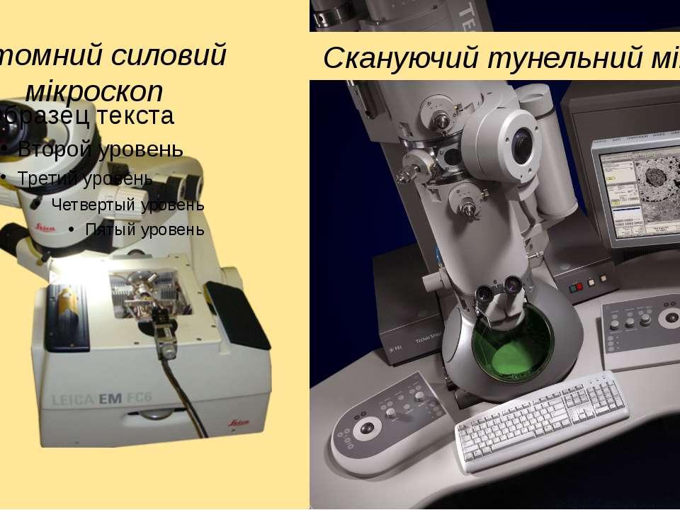 Скануючий тунельний мікроскоп Атомний силовий мікроскоп