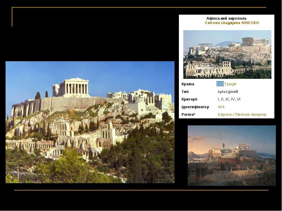 Античний Акрополь Афінський акрополь Світова спадщина ЮНЕСКО ...