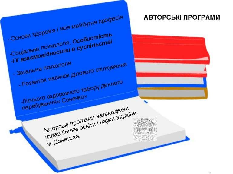 АВТОРСЬКІ ПРОГРАМИ Рожкова С.Б.