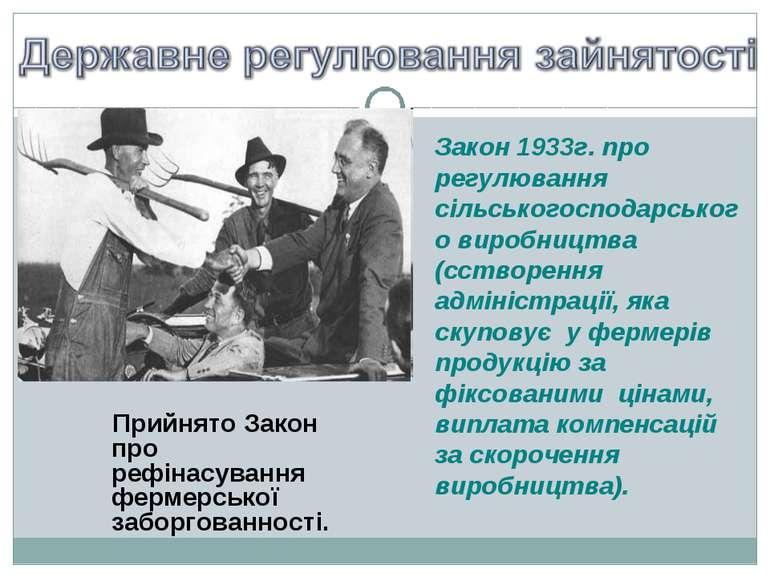 Закон 1933г. про регулювання сільськогосподарського виробництва (сстворення а...