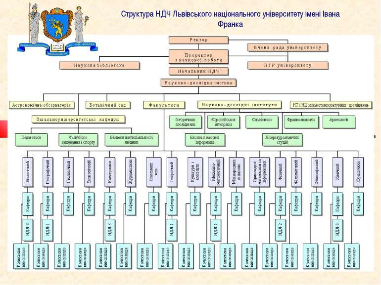 Структура НДЧ Львівського національного університету імені Івана Франка