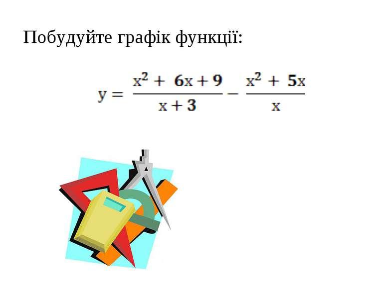 Побудуйте графік функції: