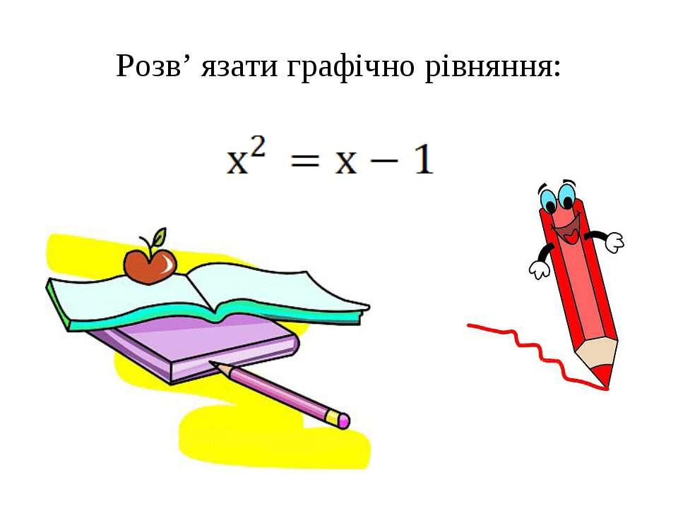 Розв' язати графічно рівняння: