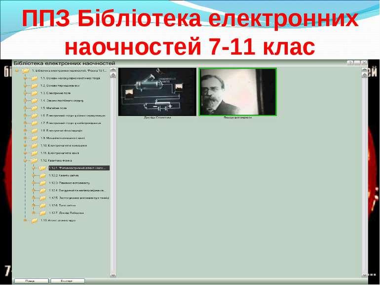 ППЗ Бібліотека електронних наочностей 7-11 клас