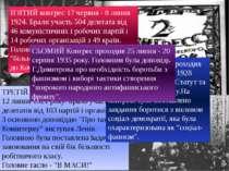 ПЕРШИЙ конгрес Комінтерну відбувся 2-6 березня 1919 року в Москві. У ньому бр...