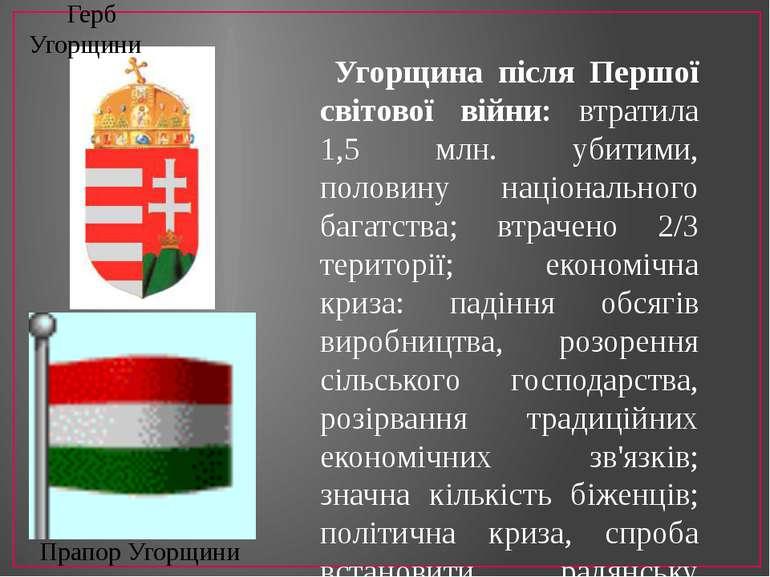 Угорщина після Першої світової війни: втратила 1,5 млн. убитими, половину нац...