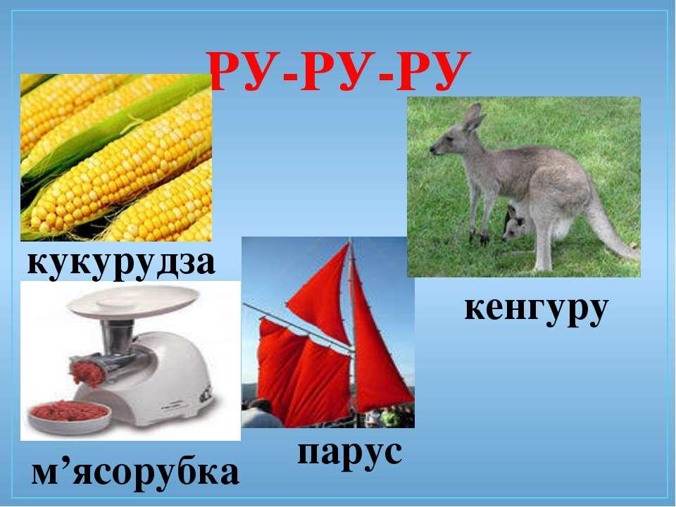 РУ-РУ-РУ парус кукурудза м'ясорубка кенгуру