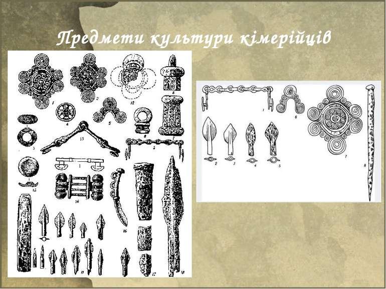 Предмети культури кімерійців