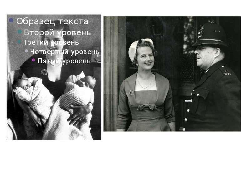 Листопад 1953: Маргарет Тетчер зі своїми двійнятами, Марком і Керол. 5 лютого...