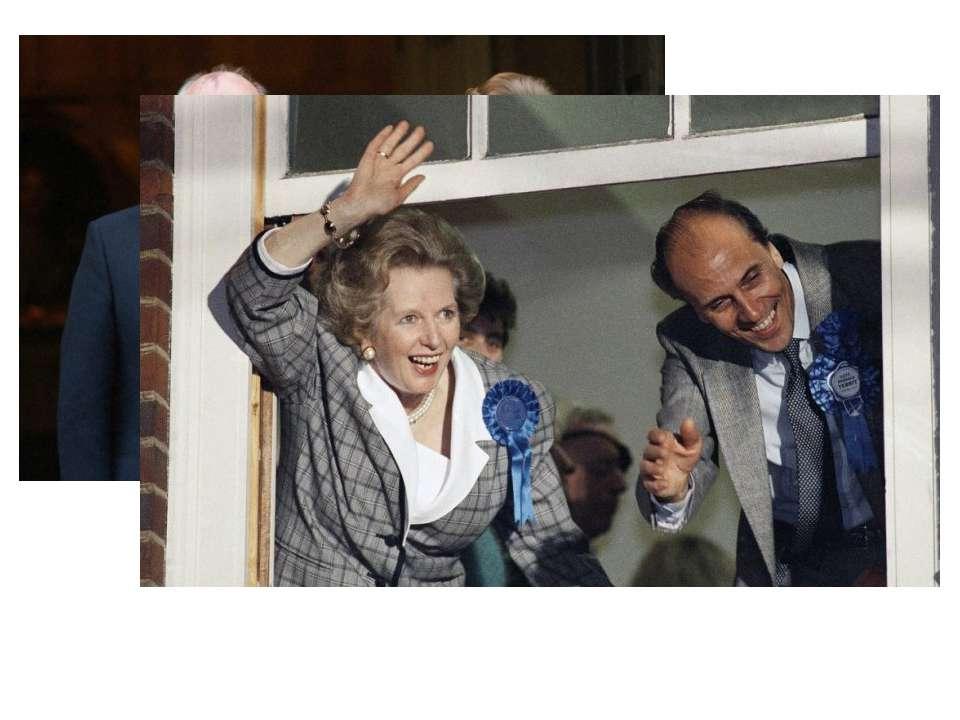 Маргарет Тетчер і Михайло Горбачов в Лондоні, березень 1984 Спілкування з при...