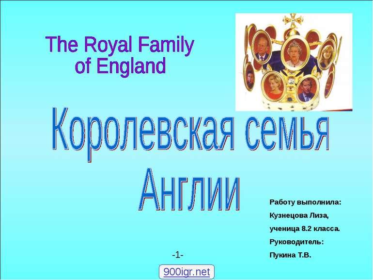 """""""Королівська сім'я Англії"""""""