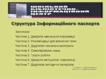Заголовок Частина 1. Джерела навчальної інформації Частина 2. Рекомендації дл...