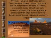 Пустеля – це дуже особливий регіон. Скелі, вапняки, камені, глина, сіль, пісо...