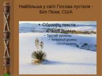 Найбільша у світі Гіпсова пустеля - Білі Піски, США FokinaLida.75@mail.ru