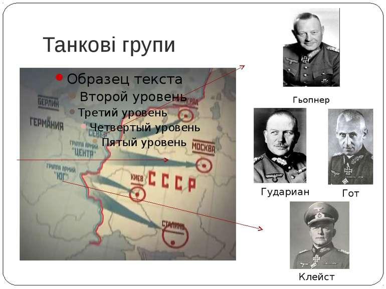 Танкові групи Гьопнер Гот Гудариан Клейст
