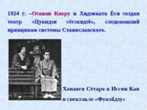 1924 г. –Осанаи Каору и Хидзиката Ёси создан театр «Цукидзи сёгэкидзё», следо...