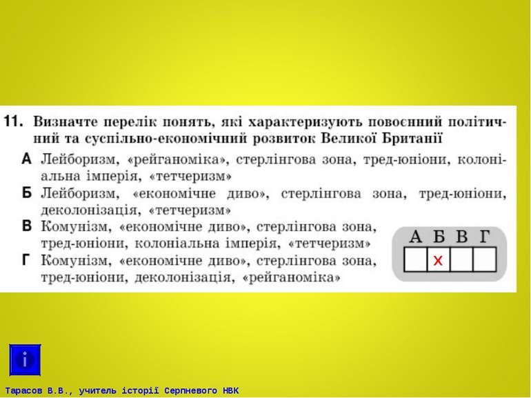 Х Тарасов В.В., учитель історії Серпневого НВК